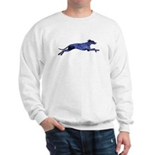 Greyhound Silhouette Fractal Sweatshirt