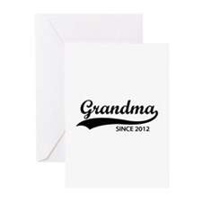Grandma since 2012 Greeting Cards (Pk of 20)