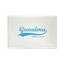 Grandma since 2012 Rectangle Magnet