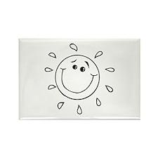 Sun Rectangle Magnet