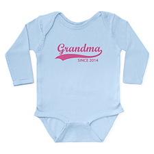 Grandma since 2014 Long Sleeve Infant Bodysuit