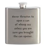 Can Opener Whoop Ass Flask