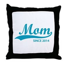 Mom since 2014 Throw Pillow