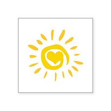 """Sun Square Sticker 3"""" x 3"""""""