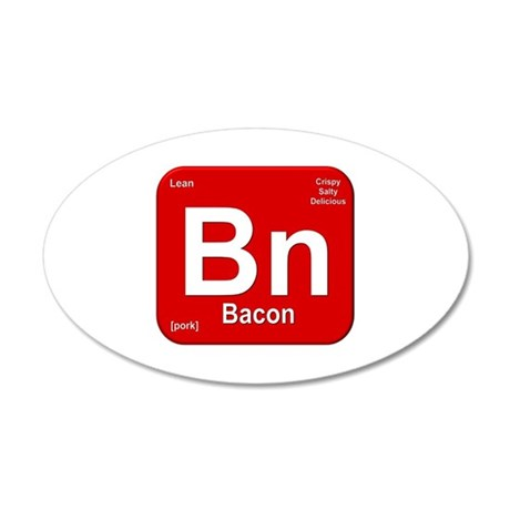 Bn (Bacon) Element 20x12 Oval Wall Decal