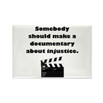 Documentary Injustice Rectangle Magnet (100 pack)