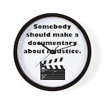Documentary Injustice Wall Clock