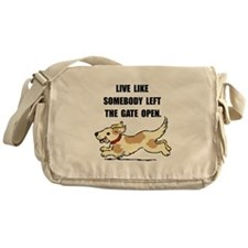 Dog Gate Open Messenger Bag