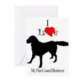 Flat Coated Retriever Greeting Cards (Pk of 10
