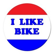 I Like Bike Round Car Magnet