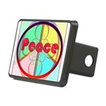 Abstract Peace Sign Rectangular Hitch Cover