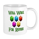 Will Work For Rupees Small Mug
