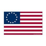 Betsy Ross Flag Rectangle Car Magnet
