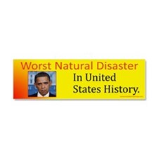 Worst Natural Disaster Car Magnet 10 x 3