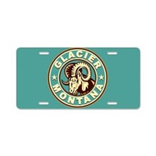 Glacier Vintage Circle Aluminum License Plate