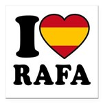 I Love Rafa Nadal Square Car Magnet 3
