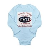 Funny Navy uncle Long Sleeve Infant Bodysuit