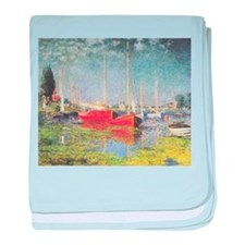 Red Boats at Argenteuil baby blanket