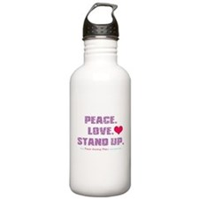 Peace, Love, Stand Up Against Bullies Water Bottle
