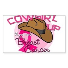 Cowgirl Up Against Breast Cancer Decal