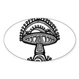 Abstract Mushroom Oval Decal