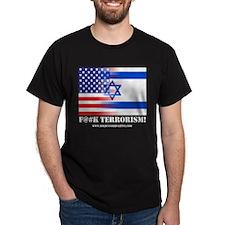 F#Terrorism USA-Israel Black T-Shirt