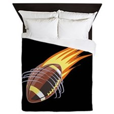 Flaming Football Queen Duvet