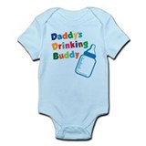 Daddys Drinking Buddy  Baby Onesie