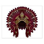 Native War Bonnet 09 Small Poster
