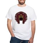 Native War Bonnet 09 White T-Shirt