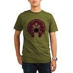 Native War Bonnet 09 Organic Men's T-Shirt (dark)