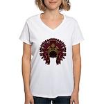 Native War Bonnet 09 Women's V-Neck T-Shirt