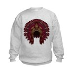 Native War Bonnet 09 Kids Sweatshirt
