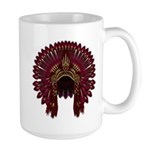 Native War Bonnet 09 Large Mug