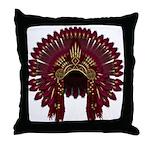 Native War Bonnet 09 Throw Pillow