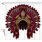 Native War Bonnet 09 Shower Curtain