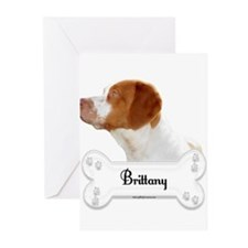 Brittany 3 Greeting Cards (Pk of 10)
