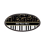 Personalized Piano musical notes designer Patches