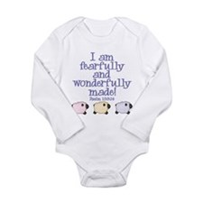 Cute Bible verses Long Sleeve Infant Bodysuit
