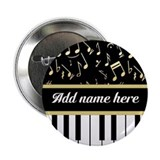 "Personalized Piano and musical notes 2.25"" Button"