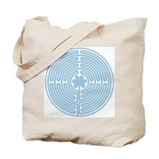 Blue Labyrinth Tote Bag