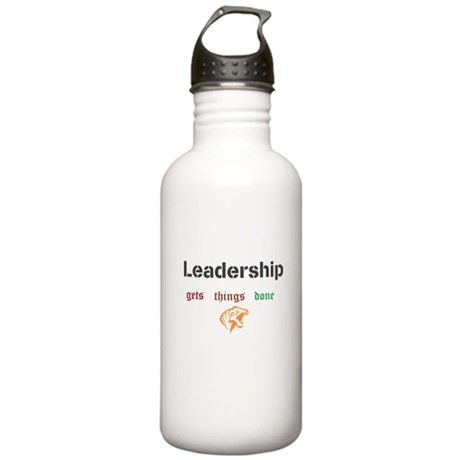Leadership gets things done Stainless Water Bottle