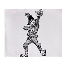 Scarecrow Dancing Disco Style Throw Blanket