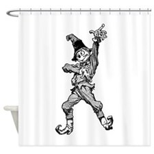 Scarecrow Dancing Disco Style Shower Curtain