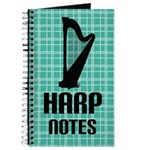 Harp Music Notes Journal