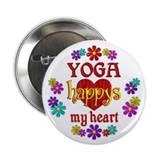 "Yoga Happy 2.25"" Button (10 pack)"