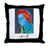 RED HAIR MOZART Throw Pillow