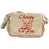 Christy On Fire Messenger Bag