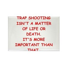 trap shooting Rectangle Magnet (100 pack)