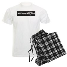 Will Travel For Vegan Food Bumper Sticker Pajamas